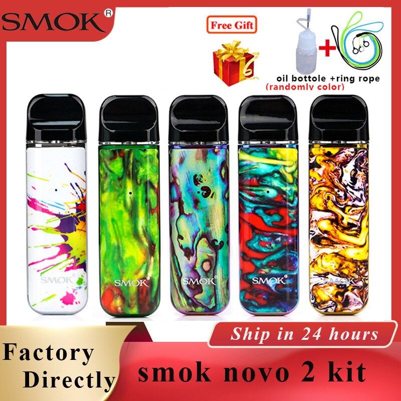 Kit Original de 2 dosettes de cigarette électronique de batterie de 2ml et de 800mAh de cigarette électronique de Vape de capsule version améliorée vs SMOK novo/smok nord