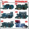 Оригинальный разъем для зарядного порта  гибкий кабель с микрофоном для Samsung Galaxy A80 A70 A60 A50 A40 A30 A20 A10