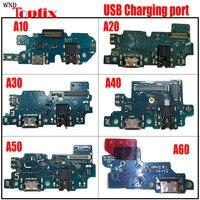 Porta de conector original  cabo flexível com microfone para samsung galaxy a80 a70 a60 a50 a40 a30 a20 a10