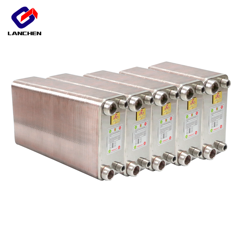 60 Plates Stainless Steel Heat Exchanger Brazed Plate Type Water Heater SUS304