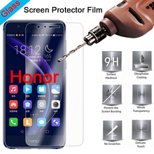 Screen Protector for Honor 8 Pro 8C 7S 7 Lite 6 Transparent 9H HD Tempered Glass Protective Glass on Huawei Honor Note 10 8 protective tempered glass screen protector for samsung note 2 transparent