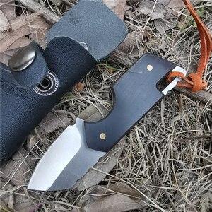 Image 3 - 白檀ハンドル戦術ストレートナイフD2シャープ刃ナイフこだわりキャンプサバイバル屋外と日常のキャリー