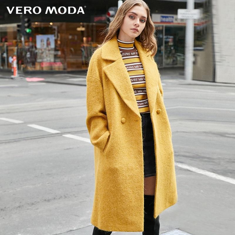 Vero Moda Women Long Woolen Winter Alpaca Coat Jacket| 319427507