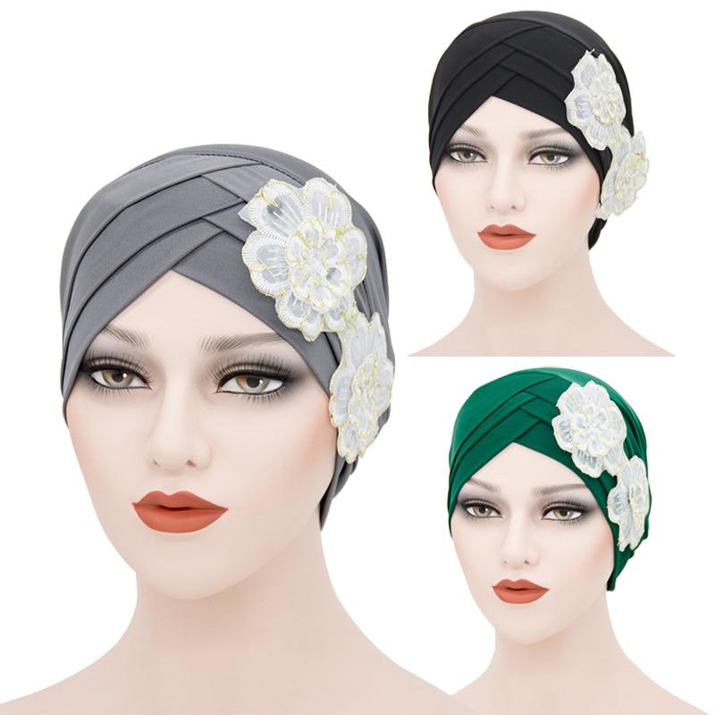 Мусульманские внутренние хиджабы с крестиком на лбу, головной платок, Женский тюрбан, готов к использованию, хиджаб, головной платок