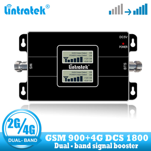 Image 1 - Lintratek Free Shipping 4G Lte 1800 Cellular Signal Repeater GSM 900 Mobile Phone Amplifier 2G 4G 65dB Dual Band Signal Booster