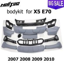 Para BM X5 E70 body kit, bodykit, placa de deslizamiento, parachoques, 2007 2008 2009, slap up completamente nuevo ABS, calidad ISO9001, gran descuento