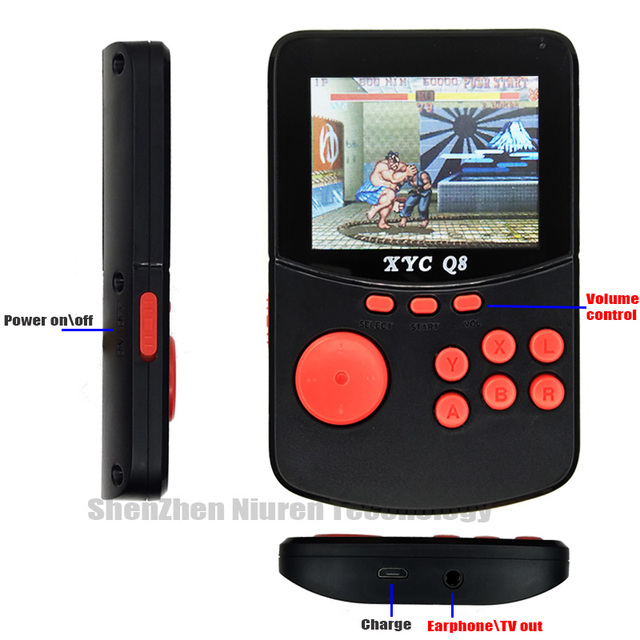 With 512M32G TF Card Retro Handheld Video Games Console For NESSNESMAMEMDGBA 16 Bit Arcade Game Players 10000 Games TV Out 5
