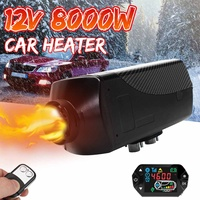 Car heater 12V 8KW for Webasto Heating Air diesel heater 2 air outlet LCD display + remote control for RV boat trailer car