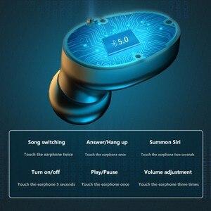Image 2 - 3500 мАч Bluetooth наушники беспроводные наушники с сенсорным управлением светодиодный микрофон спортивная водонепроницаемая гарнитура наушники
