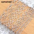 Аксессуары для ювелирных изделий GUFEATHER, ожерелье из меди с родиевым покрытием и защитой окружающей среды, 1 м/лот