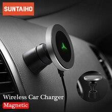 10 w qi carregador sem fio para iphone 11 pro xr xs max 8 plus samsung s20 s9 s8 sem fio de carregamento magnético suporte do telefone carro