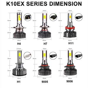 Image 5 - 10000K 4300K 6000K 5000K 8000K H7 LED لمبة H11 9006 العلوي أزرق سيارة ضوء h 11 led H4 9005 HB4 HB3 مصباح قيادة 12V 24V