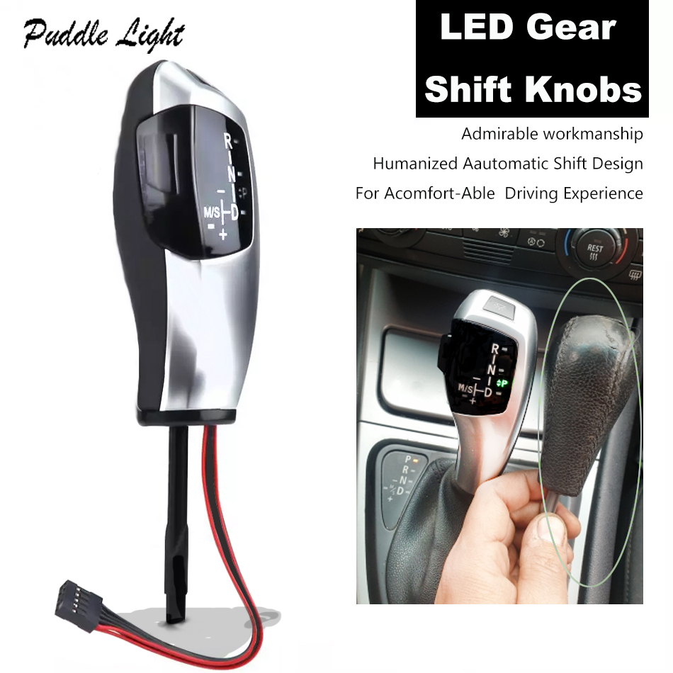 Good quality and cheap led gear shift knob lhd automatic for