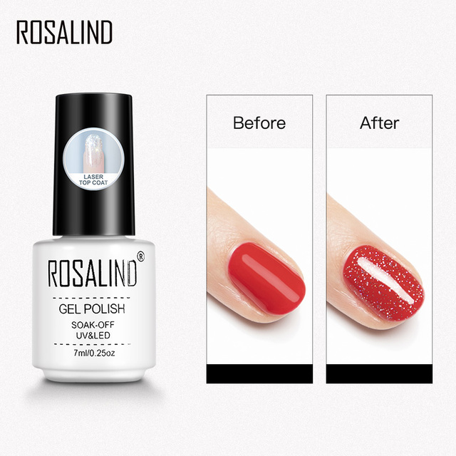 ROSALIND Base Top Primer Matt Gel Nail Polish Semi Permanent Nail Art Foundation Gel Reinforce No Wipe Gel Long Lasting Lacquer 3
