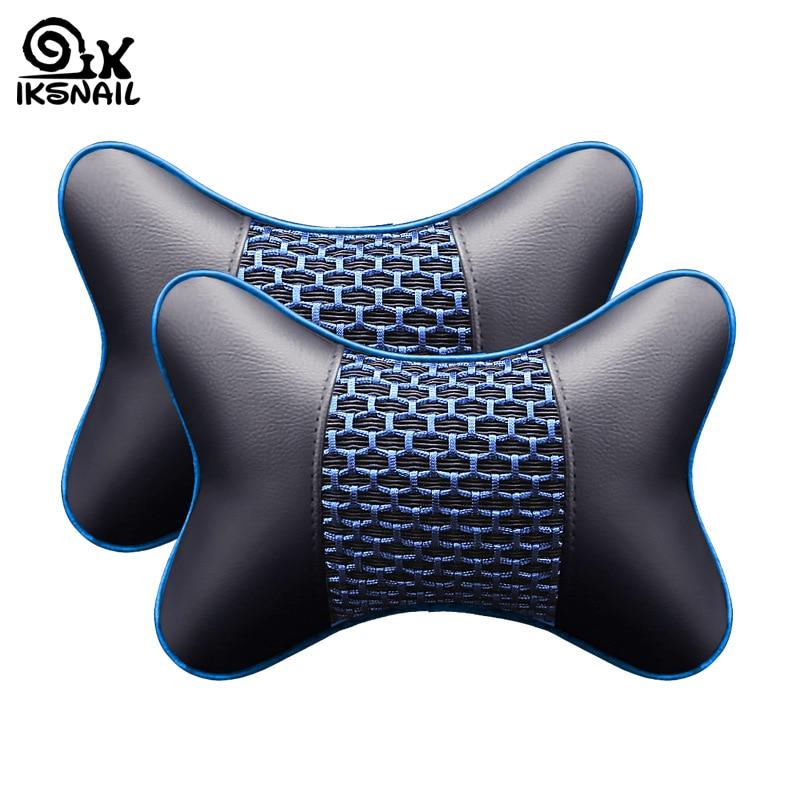 Ikescargot en cuir artificiel voiture oreiller Protection cou voiture appui-tête confortable Auto fournitures sécurité respirant cou oreillers