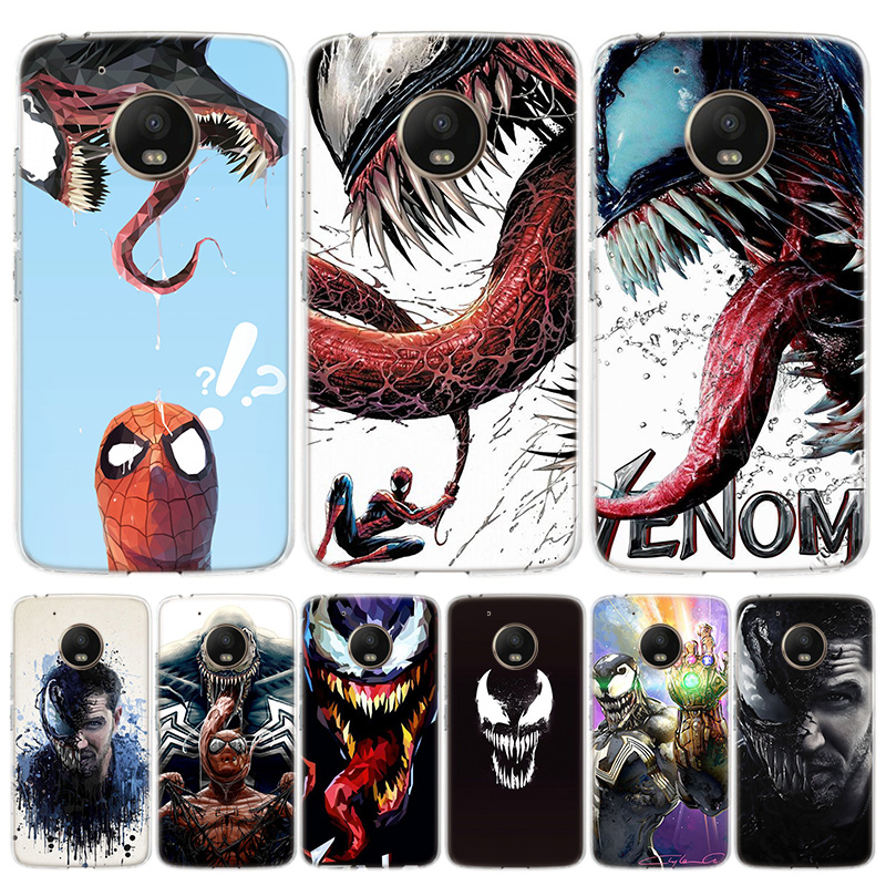 Venom Marvel Cool Cover Phone Case For Motorola Moto G8 G7 G6 G5S G5 E6 E5 E4 Plus G4 Play EU One Action X4 Pattern Coque