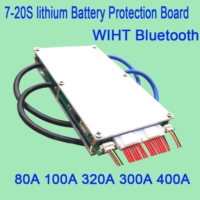 DYKB 7S - 20S Smart Bluetooth 80A 100A 320A 300A 400A lithium Li-ion Lipo LiFePO4 Battery BMS Protection Board 48v 36v 24v 16S