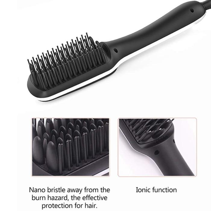 Beard Straightener With LED Display Ionic for Men Beard Straightening Comb 12