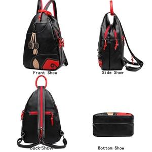 Image 5 - 3 Sets Fashion Leaf Backpack High Quality Chest Bags for Women School Bags for Teenage Girls Travel Backpack Mochila Feminina