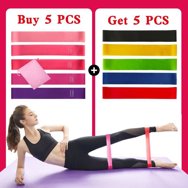 5 kom / set fitnes gumenih vrpci elastična traka za sportsku joga - Fitness i bodybuilding - Foto 2