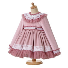 Baby Girl Velvet Vintage Tulle Bonnet Dress