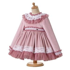 Image 5 - Pettigirl Lace Hem Baby Clothing Set With Velvet Bonnet  Clothes Toddler Boutique Outfit G DMCS206 A348
