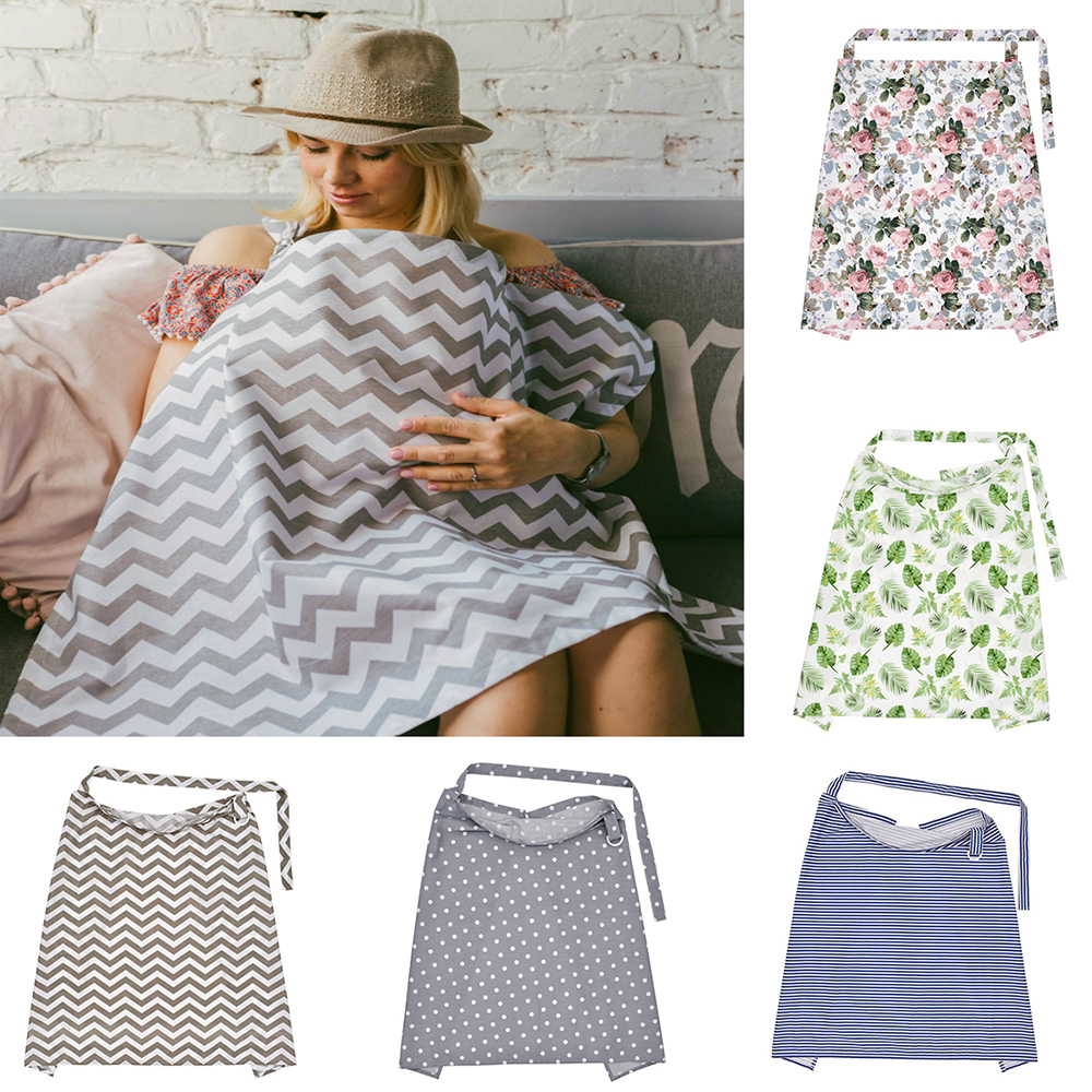 Cotton Breathable Mother Breastfeeding Cover Baby Nursing Cover Outdoor Baby Shawl Feeding Covers Apron Cover Maternity Pads