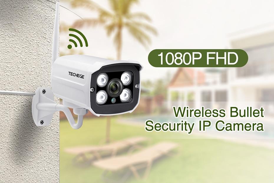 H74c39fc317454cc29cbc1eff2bc5f60fm Techege HD 1080P Wireless SD Card Slot Audio IP Camera 2.0MP wifi Security Camera Night Vision Metal Waterproof Outdoor Camera