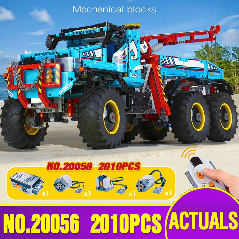 20056 Technic Car Compatible With <font><b>Legoing</b></font> <font><b>42070</b></font> 6x6 All Terrain Tow Truck Building Blocks Car Model Toys Kids Christmas Gifts image