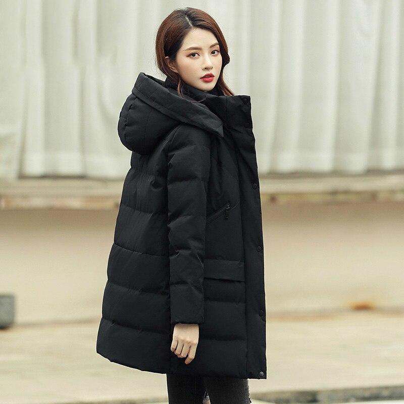 Women Coat Winter Down Coat White Duck Down Jacket Women Hooded Puffer Jacket Warm Parka Veste Femme S1190084 YY1452
