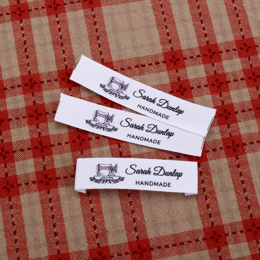 Custom Clothing Ribbon-Labels Logo Organic Labels-Personalized Cotton Brand Text MD3012