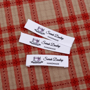 Custom Clothing Labels - Personalized Brand , Organic Cotton Ribbon Labels , Logo or Text, Sewing Labels (MD3012)