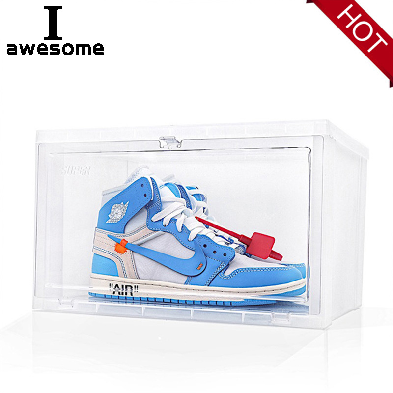 Professional Shoes Care Tool Sneakers Storage Box For Sneakers High State Anti Oxidation Acrylic Dust Collection Shoes Box