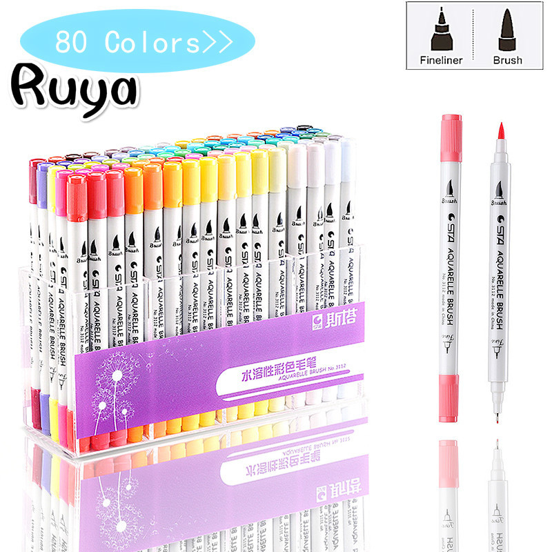 Colors Single Art Copic Markers Highlighters Brush Pen Sketch Alcohol Based Dual Head Manga Drawing Supplies Stabilo Colores