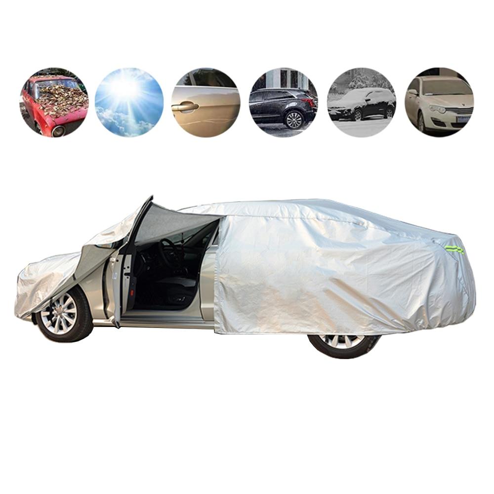 Universal SUV/Sedan Full Car Covers Outdoor Waterproof Sun Rain Snow Protection UV Car Umbrella Auto Case Cover Car Styling