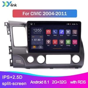 car multimedia player Android For Honda Civic 2004-2011 gps navigation system radio video audio bluetooth usb no 2 din dvd dvr