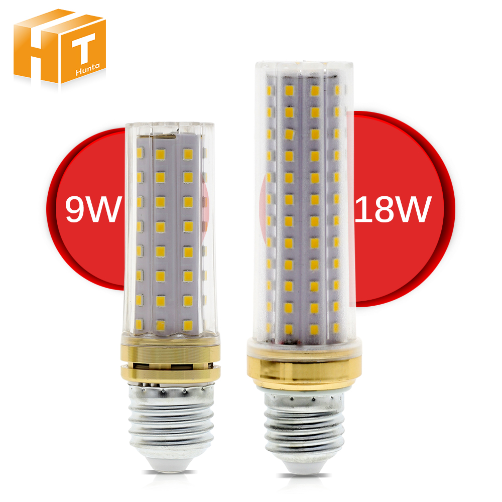 LED Corn Bulb 220V E27 9W 80LEDs 18W 129LEDs High Brightness No Flicker Energy Saving Lighting LED Bulb Light.