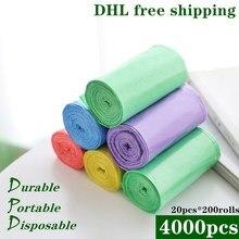 4000pcs DHL Free PE Garbage Bag Rubbish Bags  Disposable Kitchen Waste Plastic Trash