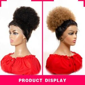 Image 2 - Yepei Extensions de cheveux Afro queue de cheval, cheveux humains bouffants, avec clips, cheveux crépus, bouclés, queue de cheval, 8 pouces