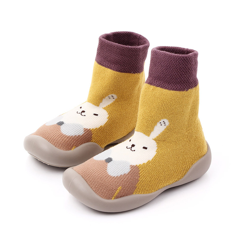 Infant Baby Socks Warm Booties Sock With Rubber Soles For Newborn Baby Girl Boy Socks Winter Sock Terry Sliper F126