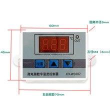 W3001 w3002 dc12v 24v AC110V-220V led digital termostato controlador de temperatura termoregulador aquecimento controle de resfriamento