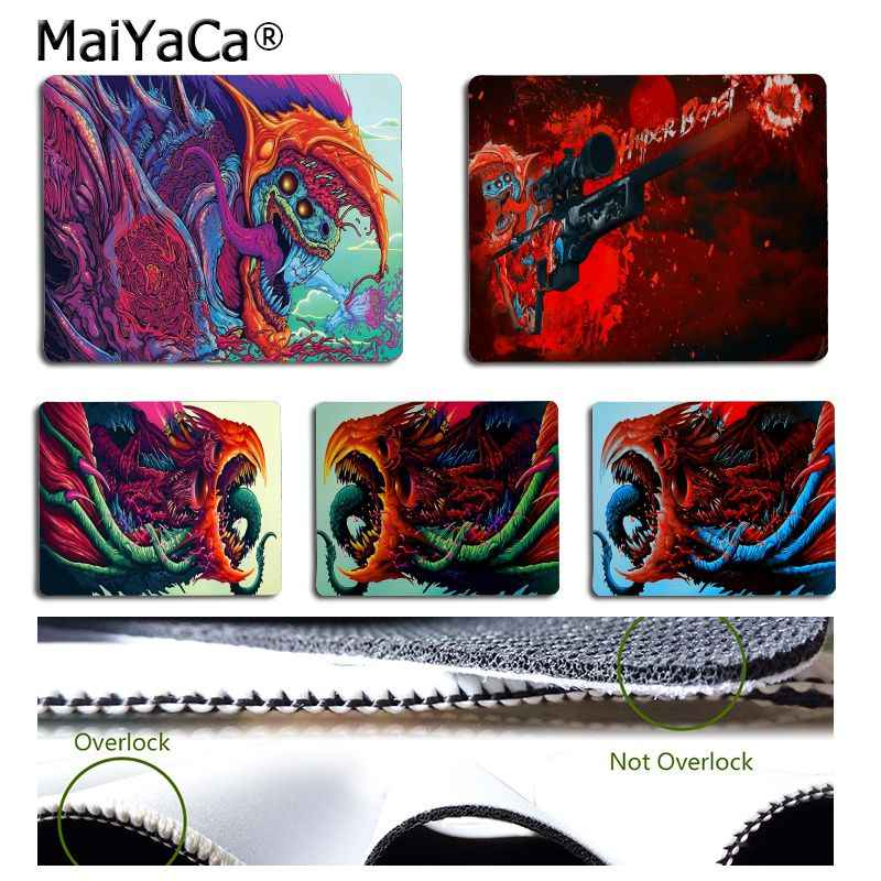 Maiyaca Non Slip PC Hyper Binatang Komputer Gaming Mouse Tikar Karet Komputer PC Mousepad untuk PC Laptop Notebook