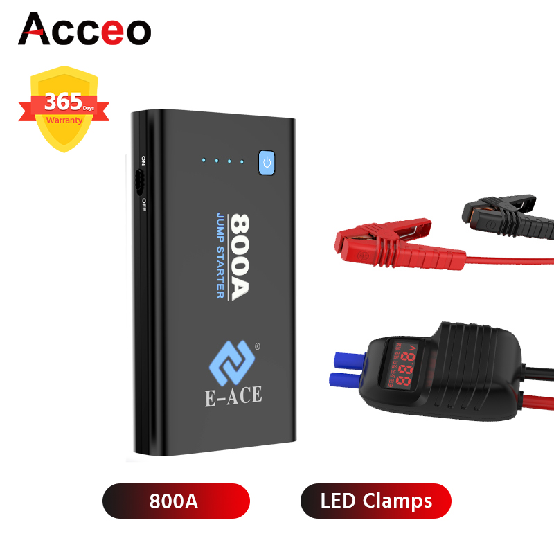 ACCEO X10 <font><b>Jump</b></font> <font><b>Starter</b></font> Power Bank Starting Device Booster Car Battery <font><b>Starter</b></font> <font><b>800A</b></font> Auto Buster Car Emergency Booster image