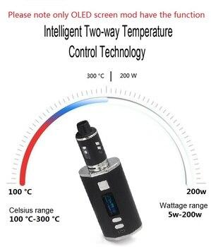 Nieuwste 200W Tc Doos Mod Met 4400 Mah Ingebouwde Batterij 2.5 Ml 0.3ohm Coil Tank 510 Mod Vape waterpijp Elektronische Sigaret Damp Kit