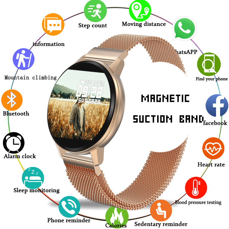 2020 New LIGE Casual Fashion Smart bracelet Watch Women Mens Fitness Tracker Top Brand Luxury Waterproof Clock Smart Wristband