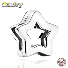 2020 Fashion Star Clip  Fit Pandora Charms Silver 925 Original Bracelets Sterling Charm Beads Jewelry Making DIY Gift