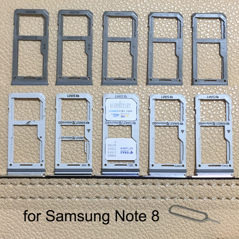 For Samsung Galaxy Note 8 N950 N950F N950FD N950U N950W Original Phone Housing New SIM Card Adapter Micro SD Card Tray Holder
