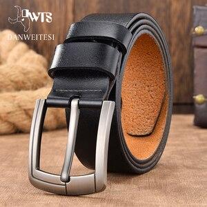 [DWTS]men belt male leather belt men male genuine leather belt strap luxury pin buckle fancy vintage jeans free shipping