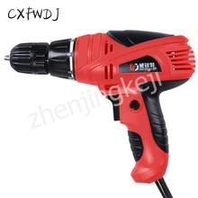 Electric Screwdriver Torque Drill Adjustment Hand Drill 220V Electric Screwdriver Mini Household Electric Drill drill screwdriver energomash du 21400