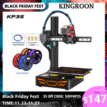 KINGROON KP3S 3D Printer High Precision Printing Upgraded DIY 3d printer Kit TMC2225 Driver Touch Screen size 180*180*180mm